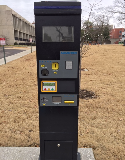 campus police multispace parking meter
