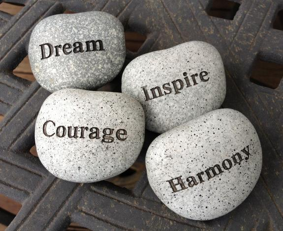 Wellness and motivation stones