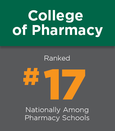College of pharmacy ranked 23 nationally.