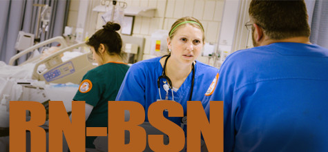 BSN students in training.