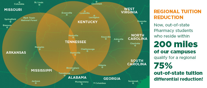 regional tuition reduction map