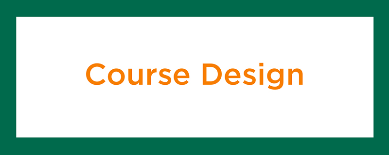 Course Design Section